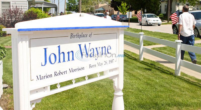 John Wayne birthday celebration draws fiery co-star, fans
