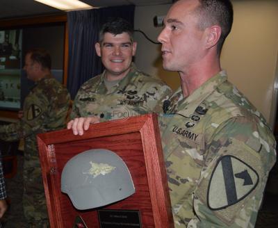Lifesaving US Army helmet hit by bullet returned to Texas soldier