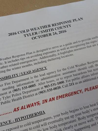 Cold Weather Response Plan discussed ahead of colder weather