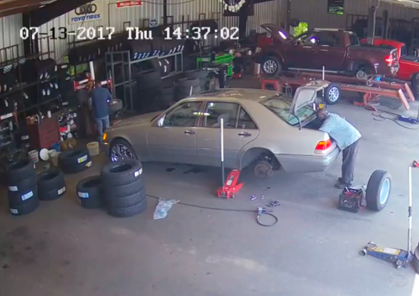 Police asking for help in identifying a suspect who stole a floor jack from a local tire shop
