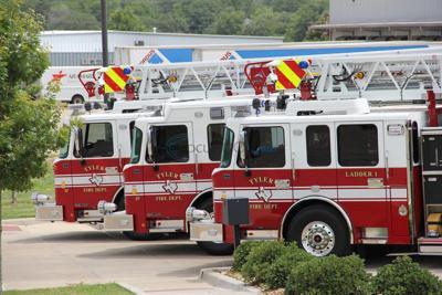 Tyler Fire Department welcomed new fire trucks Friday