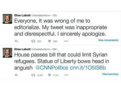 CNN reporter suspended for opinionated tweet