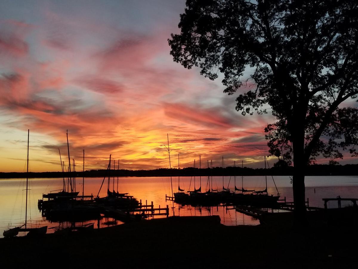 Sunset at Lake Tyler Halloween night