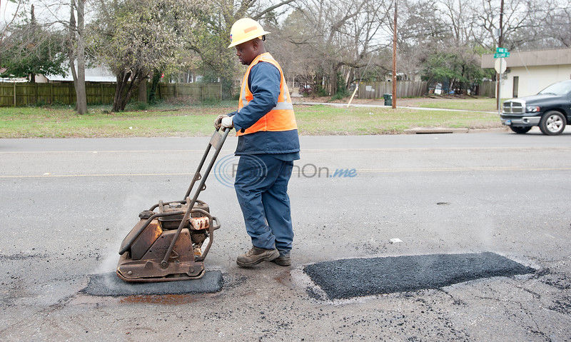 City, county workers kept busy making street repairs