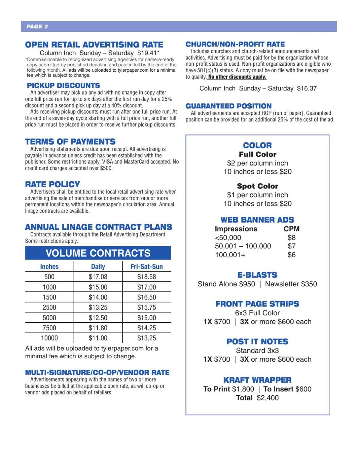 Retail Rate Card 201801 page 2