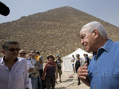 Using new technology to scan ancient pyramids in Eqypt for hidden burial chambers