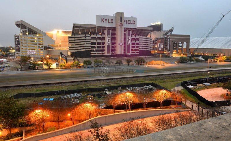 West side of A&M's Kyle Field imploded