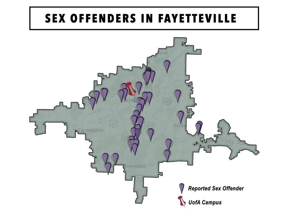 Sex offenders in arkansas map