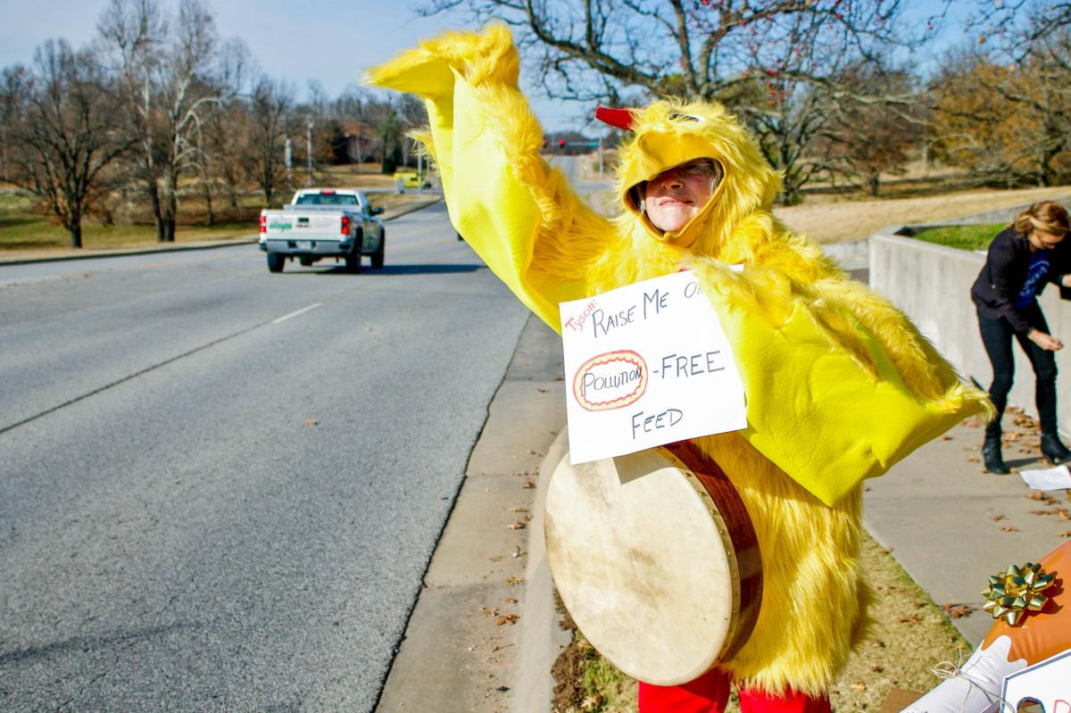 Protesting Pollution at Tyson Headquarters