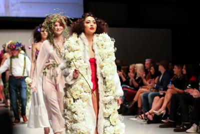 NWA Fashion Week Designer Crafts Outfits With Live Flowers