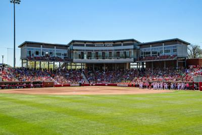 Softball Hogs Win In Front of Record-Breaking Crowd