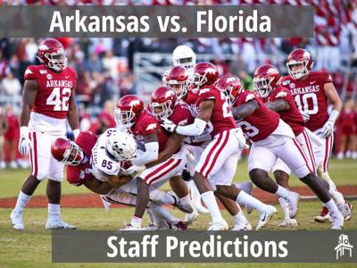 Arkansas vs. Florida Predictions Graphic