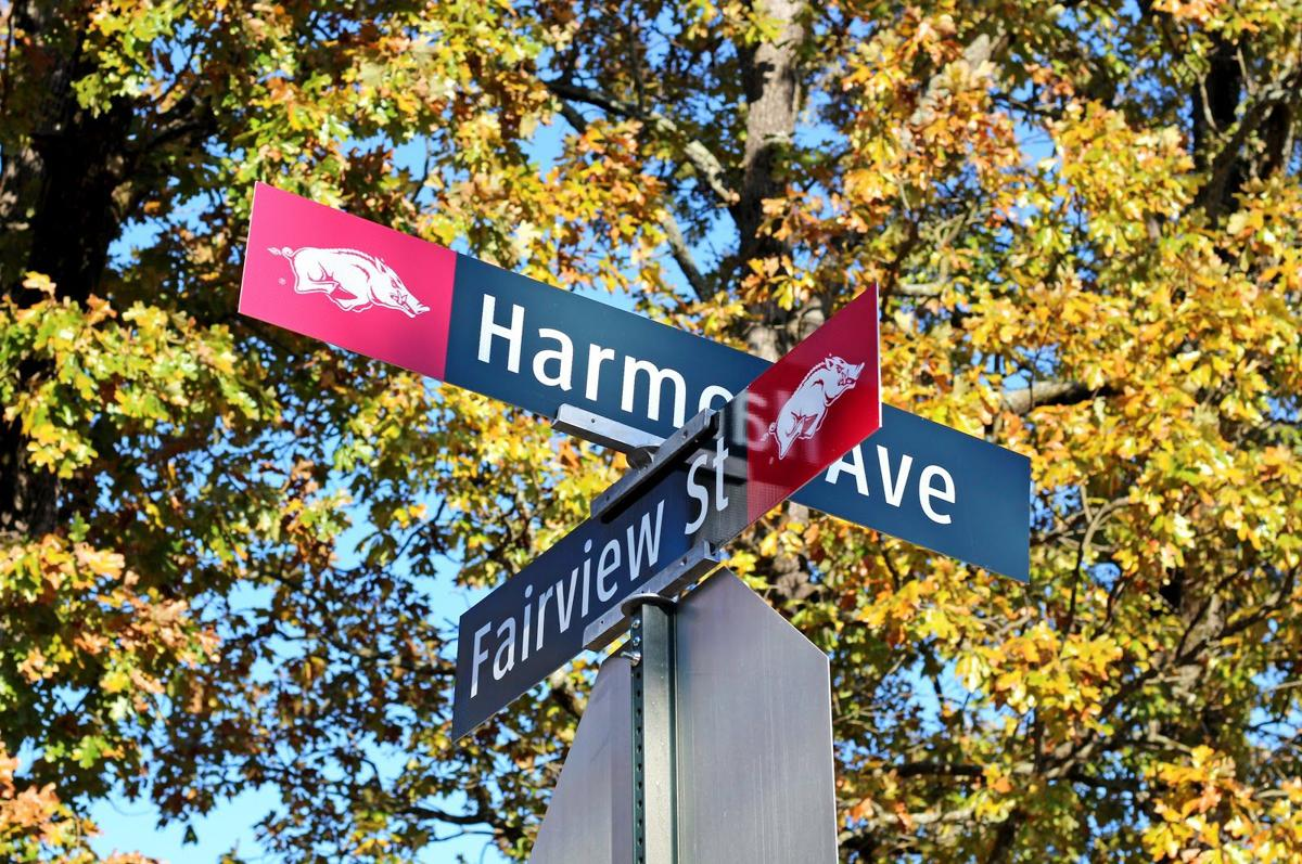 New Street Signs Feature Razorback Logo