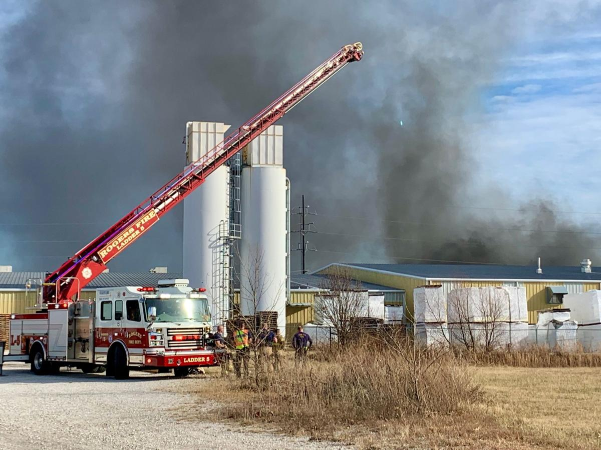 Bentonville Factory in Flames, Four Schools Without Power