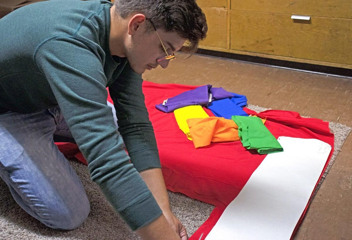 Student Handmakes Pride Flags For NWA Community