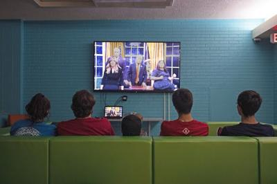 Students Watch SNL Premiere