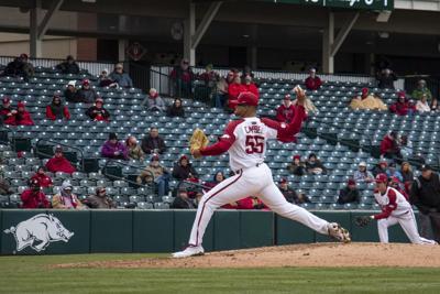 Arkansas Baseball Breaks out Brooms at Home Again