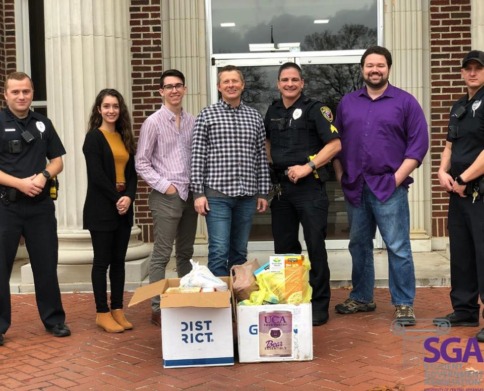 """SGA raises 58.2 pounds in """"Food for Fines"""" drive"""