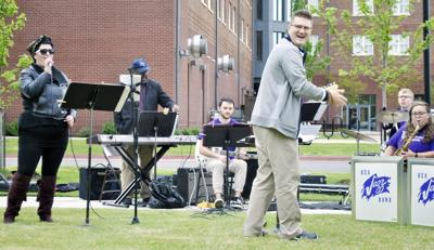Tacos and tunes take over Donaghey Hall lawn