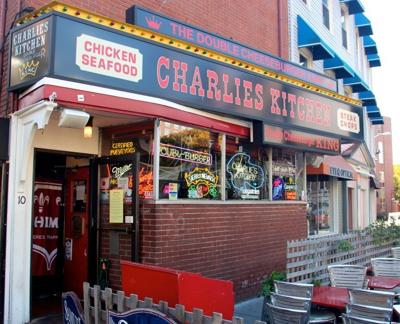 Charlie's delicious double cheeseburger is the restaurant's claim to fame