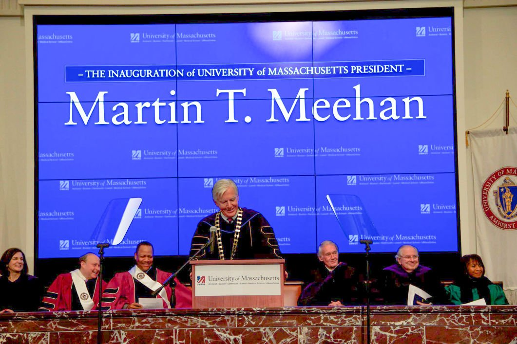 Marty Meehan Inaugurated as UMass System's 27th President