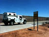 An armored border patrol vehicle makes its rounds in 'O'er the Land'