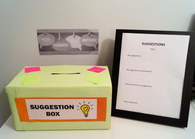 The suggestion box: a modernized solution to school-related issues