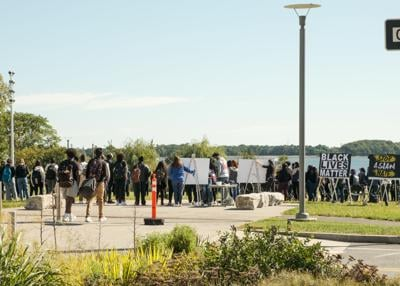 Black Student Center holds protest demanding accountability from university