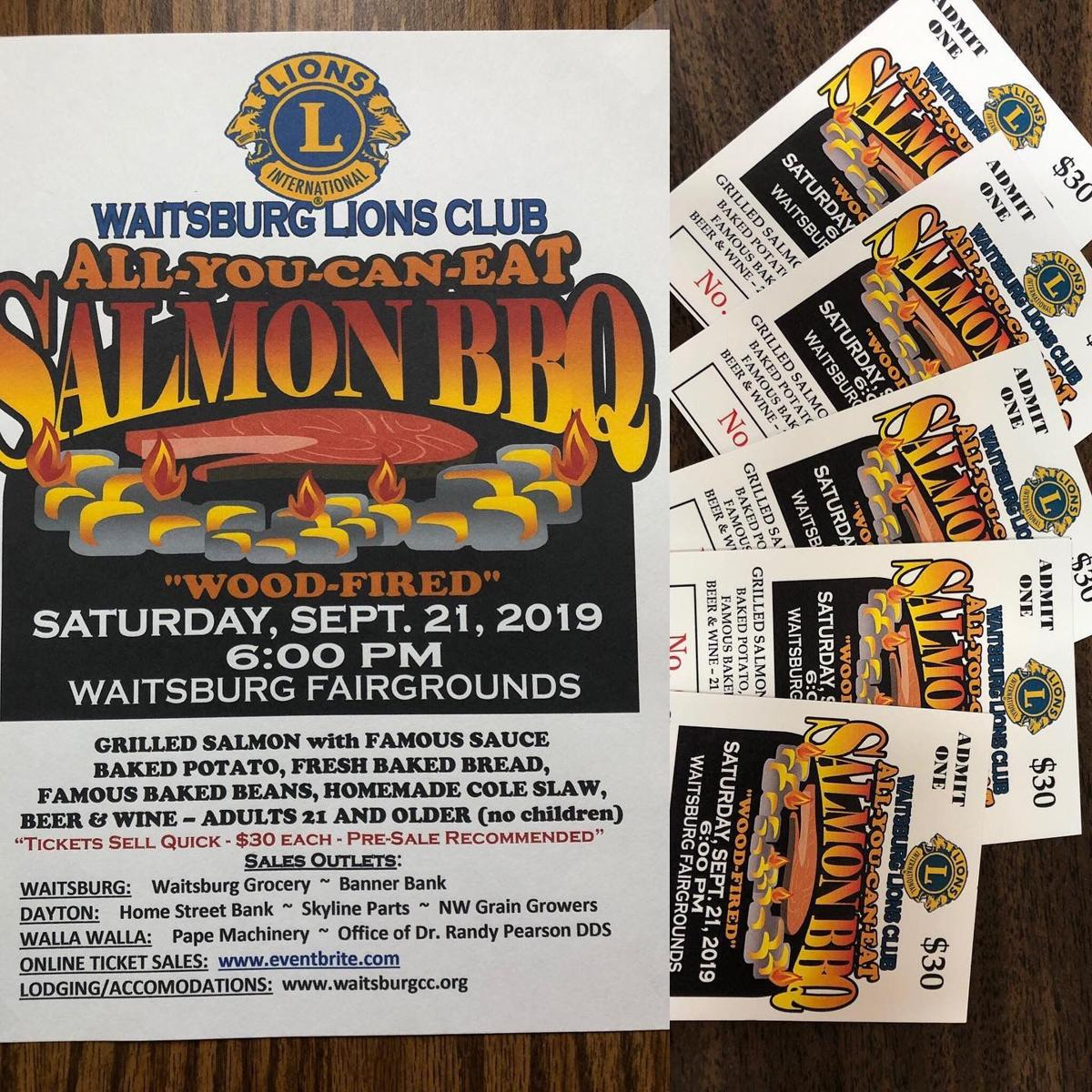 Waitsburg Lions' Salmon BBQ