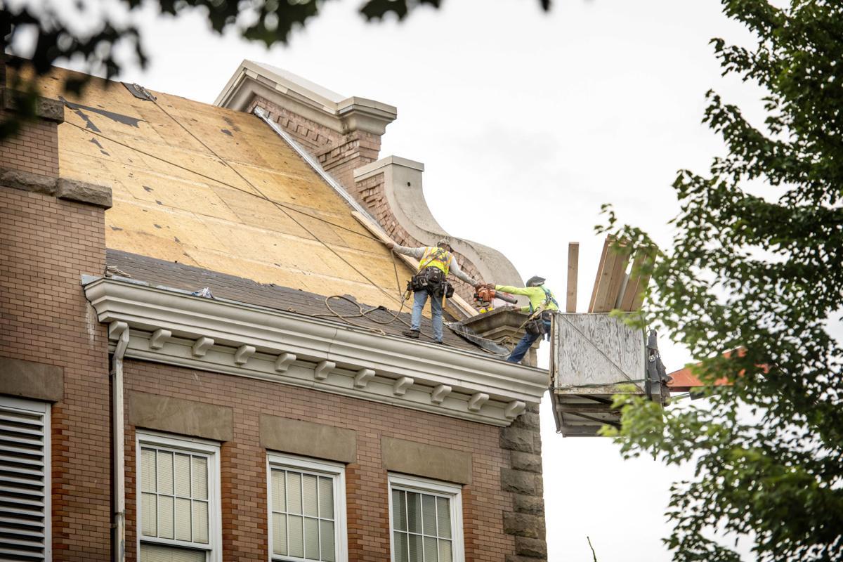 Green Park roof work