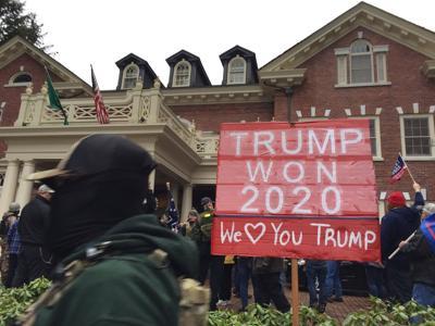 Trump protestors at Governor's Mansion
