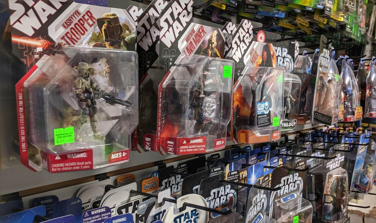Star Wars toy wall