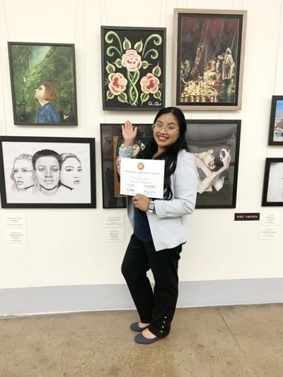 Student's 1st painting wins District art contest