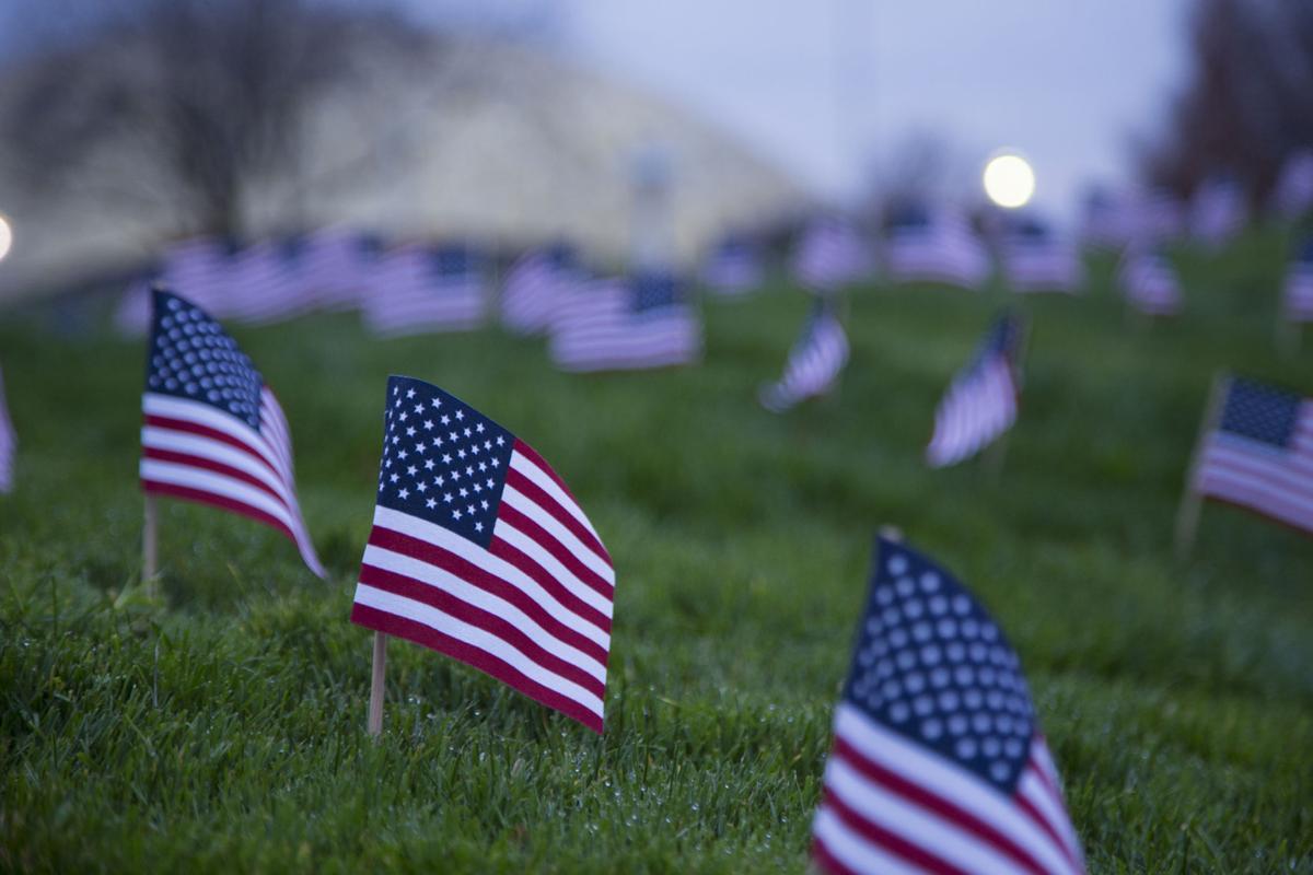 WWCC Veterans Day flag commemoration