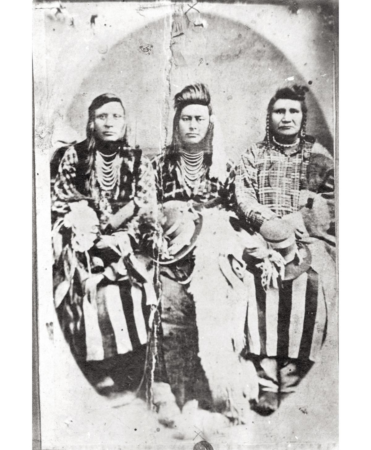 Nez Perce leader and two men, 1875
