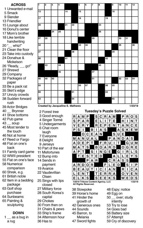 Pack Rat Crossword Puzzle Clue Collection Of Types