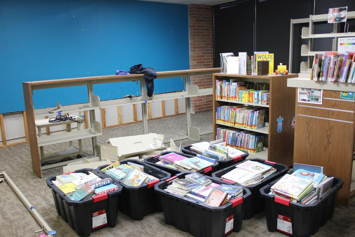 County library on Plaza Way repairs flood damages