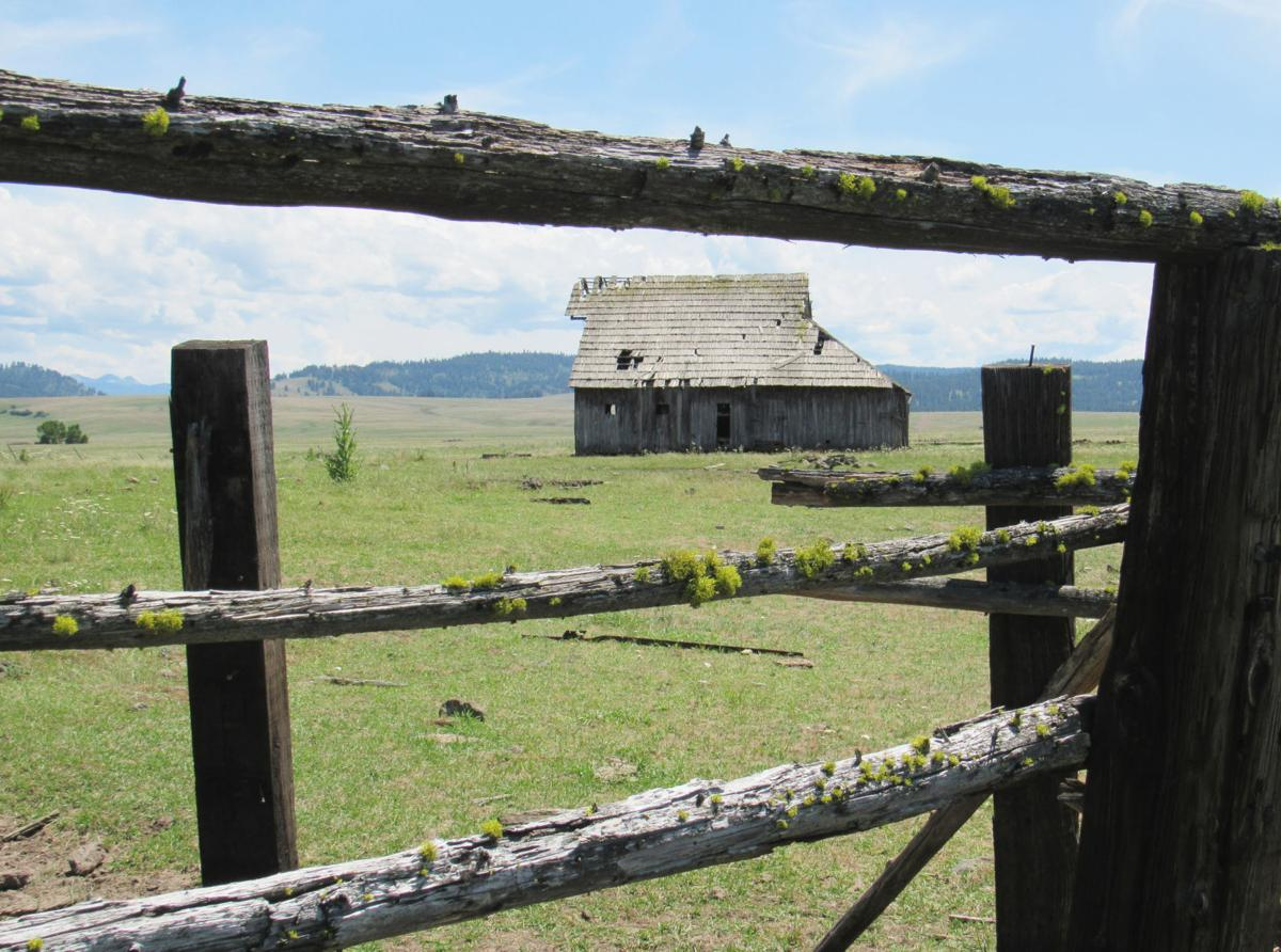 Weathered barn on a high plateau
