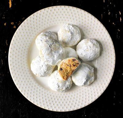 Hazelnut, Orange and Cacao Nib Snowball Cookies
