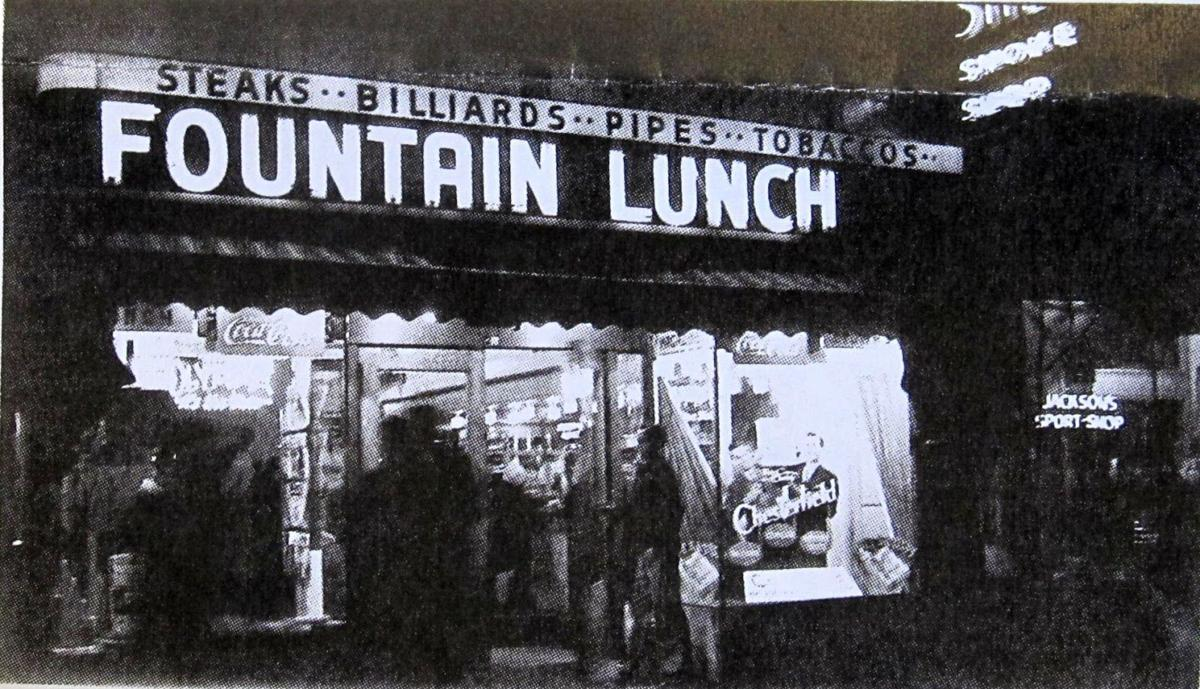 Shep's Fountain Lunch by Jackson Sports Shop, 1940s.JPG