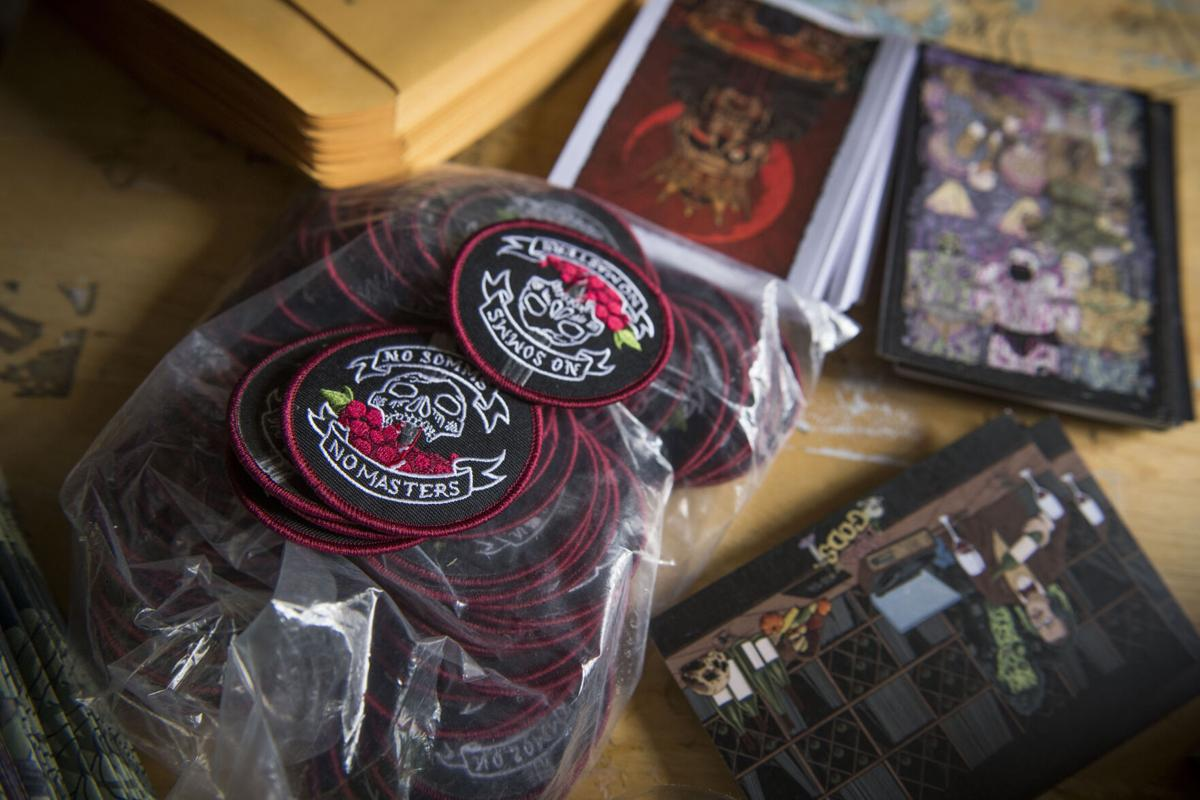 Patches and cards based on Blood Of The Gods