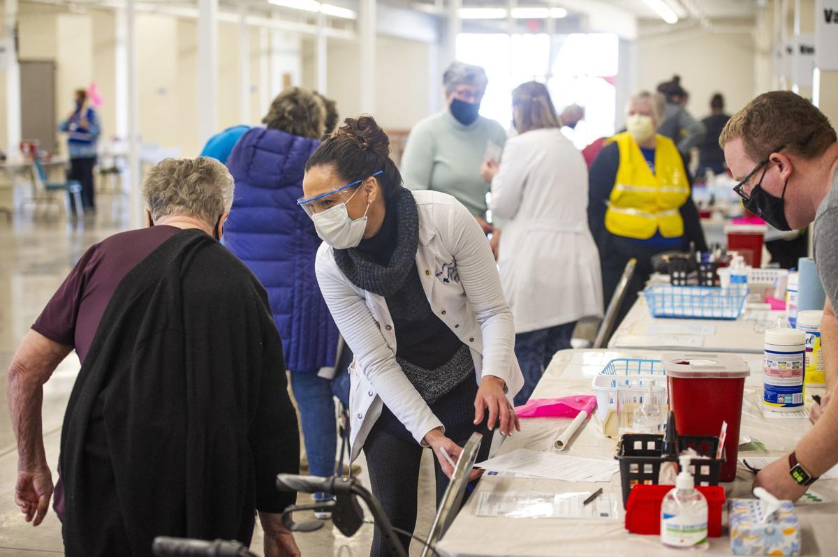 mass vaccination clinic at the Walla Walla Fairgrounds Pavilion