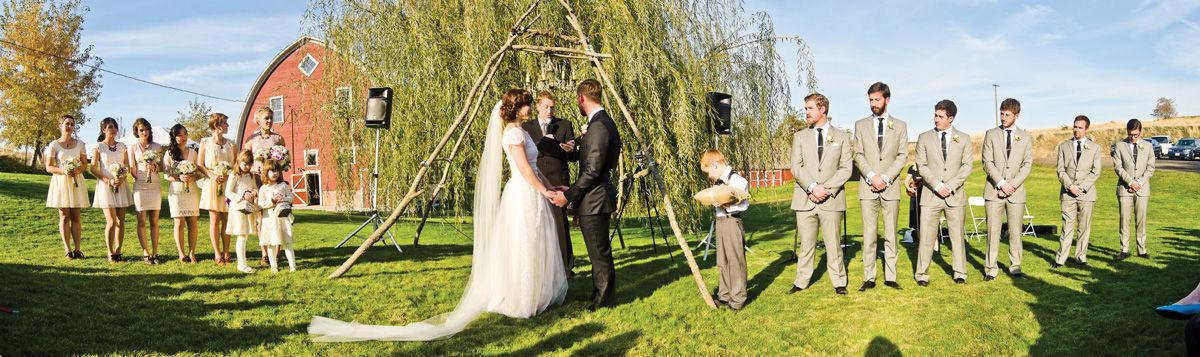 Tackett wedding pano