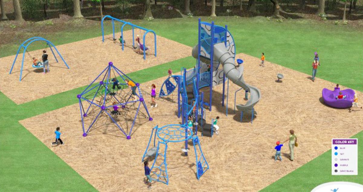 3-D mockup shows the play area for Vista Terrace Park