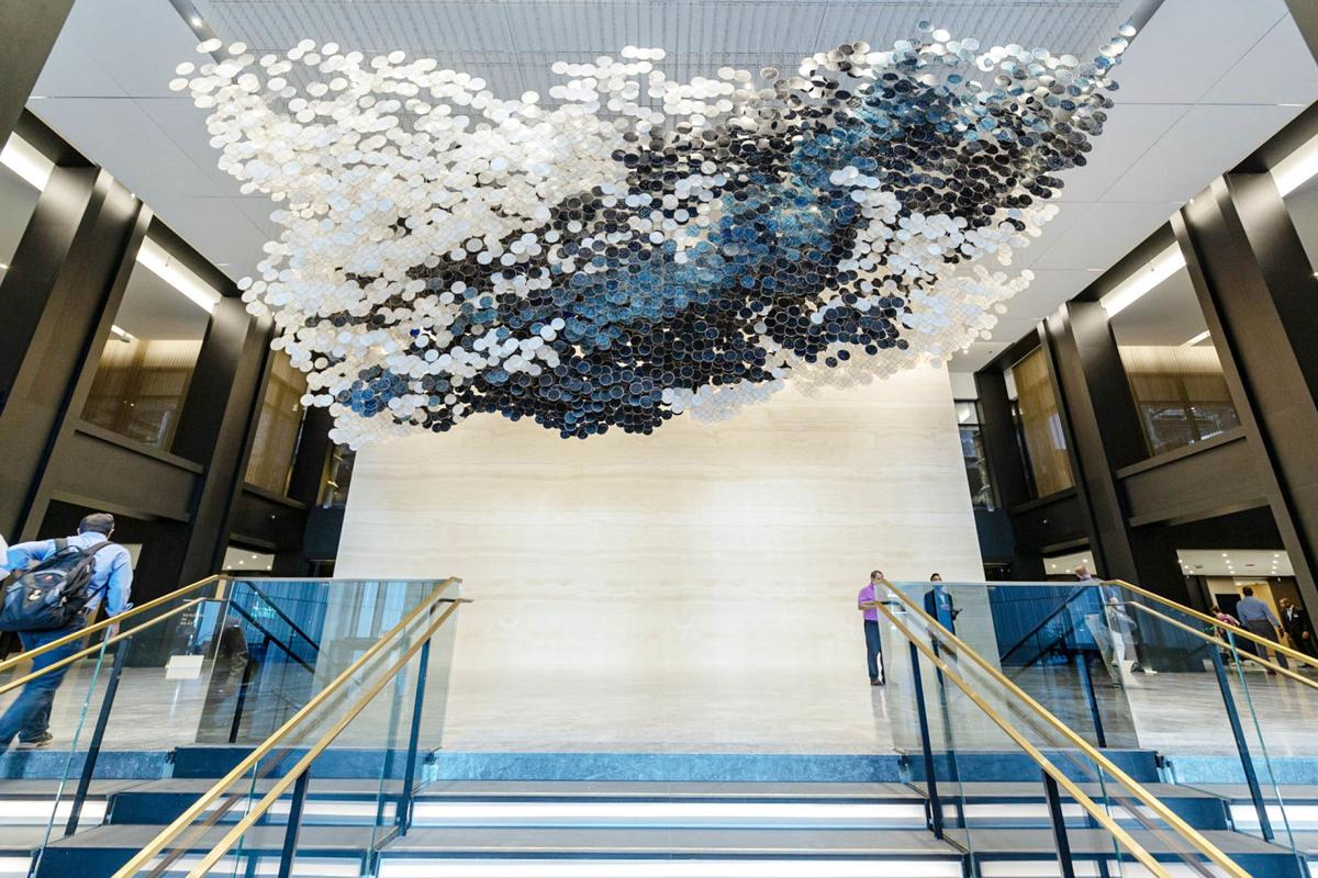 190922 'In the Heart of this Infinite Particle of Galactic Dust, 2019'  by Jacob Hashimoto.jpg