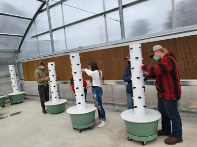 Touchet High School greenhouse
