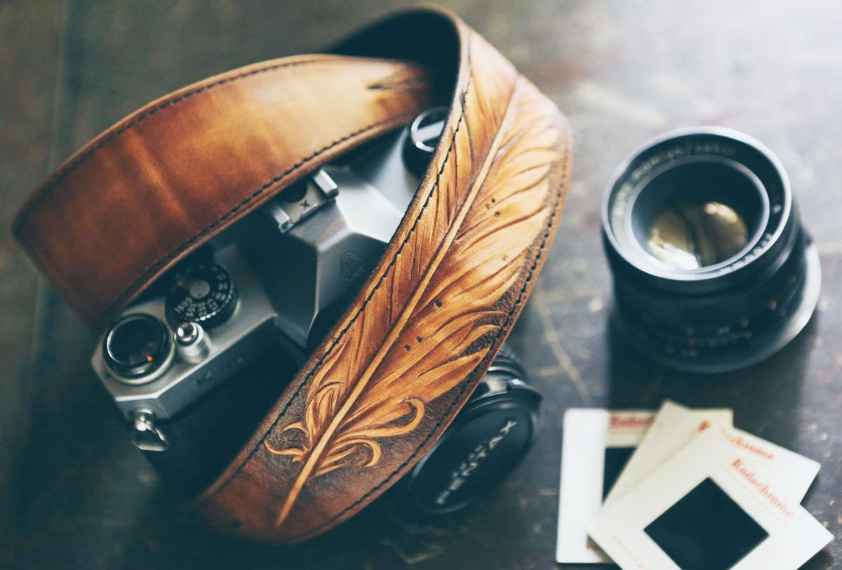 190228 WENAHA Colladay Leather Feather Camera Strap.jpg