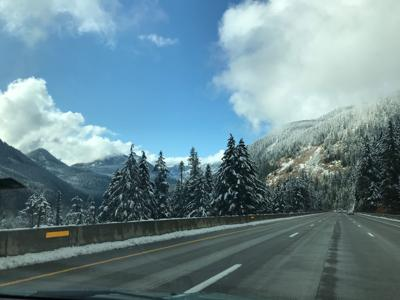 Interstate 90 over Snoqualmie pass