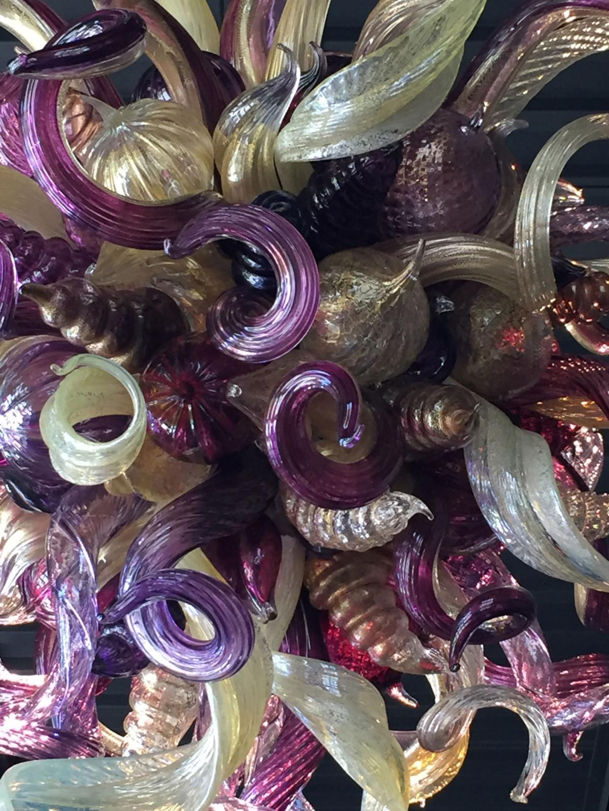 Dale chihuly artwork brightens long shadows vintners tasting room chihuly chandelier arubaitofo Image collections