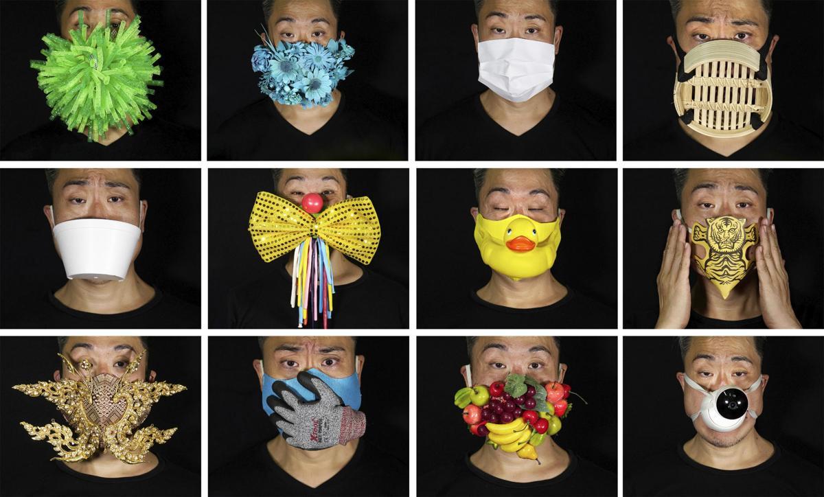 APTOPIX Hong Kong Mask Art Photo Gallery